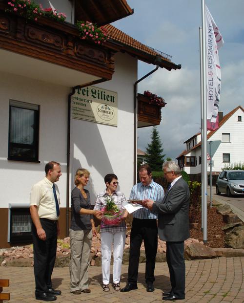 3 Sterne für das Hotel Drei Lilien